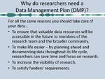 Data Management Plan Tool ( DMPTool )