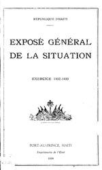 Exposé général de la situation de la République d'Haïti