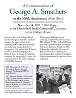 "Poster for ""A Commemoration of George A. Smathers on the 100th Anniversary of his Birth"""