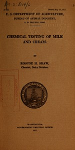 Chemical testing of milk and cream