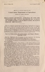 Regulations governing appraisal of and compensation for cattle destroyed on account of tuberculosis, paratuberculosis, or bang's disease (brucellosis)