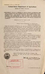 Amendment 1 to B.A.I. order 367 (Regulations governing the appraisement of and compensation for tuberculous, paratuberculous, and bang's disease reacting cattle condemned and destroyed in the control and eradication of tuberculosis, paratuberculous, and bang's disease of animals)