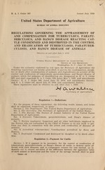 Regulations governing the appraisement of and compensation for tuberculous, paratuberculous, and bang's disease reacting cattle condemned and destroyed in the control and eradication of tuberculosis, paratuberculosis, and bang's disease of animals