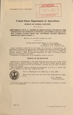 Amendment 2 to B.A.I. order 352 (Regulations governing the importation of domestic livestock and other animals into the United States from all countries except Mexico), modifying regulation 11