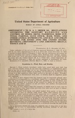 Amendment 3 to B.A.I. order 341. Regulations governing the sanitary handling and control of hides, skins, fleshings, hide cuttings, parings, glue stock, hair, wool, and other animal byproducts, and hay and straw offered for entry into the United States. Revoking amendment 2 and amending regulations 6 and 16