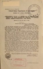 Amendment 1 to B.A.I. order 336--To prevent the spread of foot-and-mouth disease in cattle, sheep, other ruminants, and swine