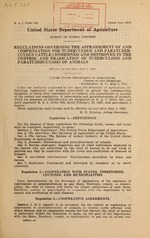 Regulations governing the appraisement of and compensation for tuberculous and paratuberculous cattle condemned and destroyed in the control and eradication of tuberculosis and paratuberculosis of animals