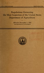 Regulations governing the meat inspection of the United States Department of agriculture