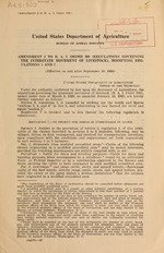 Amendment 2 to B.A.I. order 309 (Regulations governing the interstate movement of livestock), modifying regulations 1 and 7