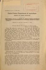 Amendment 3 to B.A.I. order 292 (Regulations governing the interstate movement of livestock), modifying regulation 2