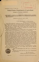 Amendment 2 to B.A.I. order 292 (Regulations governing the interstate movement of livestock), modifying regulation 2