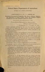 Amendment 3 to B.A.I. order 276, regulations governing the preparation, sale, barter, exchange, shipment, and importation of viruses, serums, toxins, and analogous products intended for use in the treatment of domestic animals