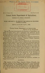 Rule 1, Revision 3, to prevent the spread of splenetic fever in cattle
