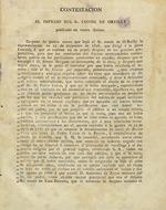 Contestación al impreso del Sr. Conde de Oreilly, publicado en enero último