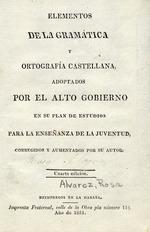 Elementos de la gramática y ortografía castellana