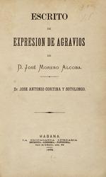 Escrito de expresión de agravios de d. José Moreno Alcoba