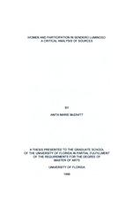 Women and participation in sendero luminoso