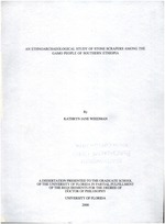 An ethnoarchaeological study of stone scrapers among the Gamo people of southern Ethiopia