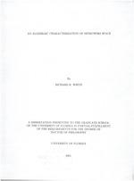 An algebraic characterization of Minkowski space