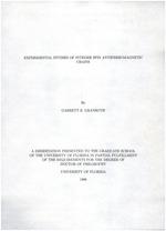 Experimental studies of integer spin antiferromagnetic chains