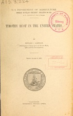 Timothy rust in the United States