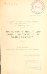 Farm methods of applying land plaster in western Oregon and western Washington