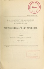The production of hairy vetch seed