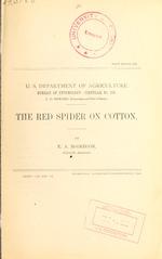 The red spider on cotton (Tetranychus bimaculatus Harvey)