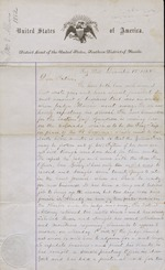 Allen, William S. Letter to his father. Key West, Florida. Dec. 1, 1862. Also letter to M.A. Key West, Florida, Aug. 24, 1868.