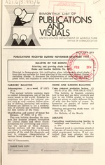 Bimonthly list of publications and visuals - United States Department of Agriculture, Office of Communication