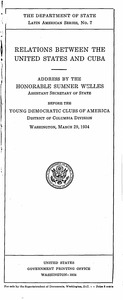 Relations between the United States and Cuba