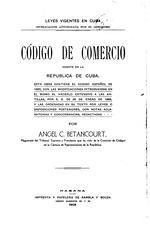 Codigo de comercio vigente en la republica de Cuba