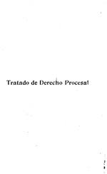 """Tratado de derecho procesal con arreglo al """"Programa"""" del Dr. Ricardo Dolz y Arango"""