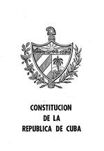 Constitucion de la Republica de Cuba
