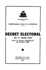 Decret electoral du 1er mars 1957