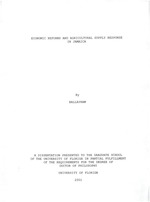Economic reforms and agricultural supply response in Jamaica