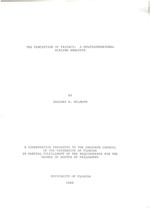 The perception of privacy : a multidimensional scaling analysis