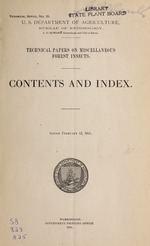 Technical papers on miscellaneous forest insects