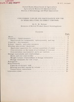 Conversion tables and equivalents for use in work relating to insect control