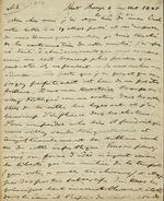 Letter to Comte Thibaudeau, Point Breeze (with transcription). July 4, 1825