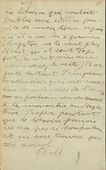 Undated letter (with transcription).