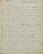 Letter to Comte Thibaudeau, Londres (with transcription). April 5, 1833