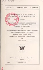 Quarterly report to the Congress and the East-West Foreign Trade Board on trade between the United States and the nonmarket economy countries