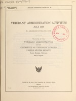 Veterans' Administration activities