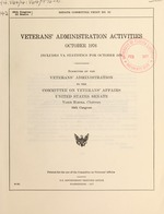 Veterans' Administration activities