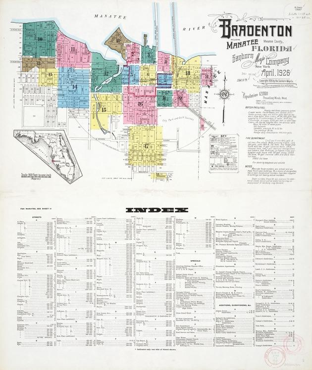 Bradenton including Manatee Manatee County Florida 1926
