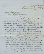 Perry, Madison Starke, 1814-1865. - Letter to Joseph E. Brown, governor of Georgia, concerning the reinforcement of Fort Pickens by Federal troops and the inadvisability of trying to hold the Navy Yard, Pensacola. Tallahassee, July 12, 1861.