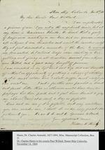 Hentz Family Letters.  Thaddeus Hentz to his cousin Paul Williard, 17 November 1864, regarding his plight as prisoner of war. Charles A., Hentz to his cousin Paul Willard written from Quincy, 1865: June 17, Oct. 6;  1866: Dec. 30.