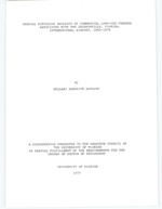 Spatial diffusion analysis of commercial land-use changes associated with the Jacksonville, Florida, International Airport, 1965-1976