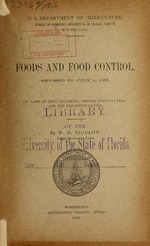 Foods and food control
